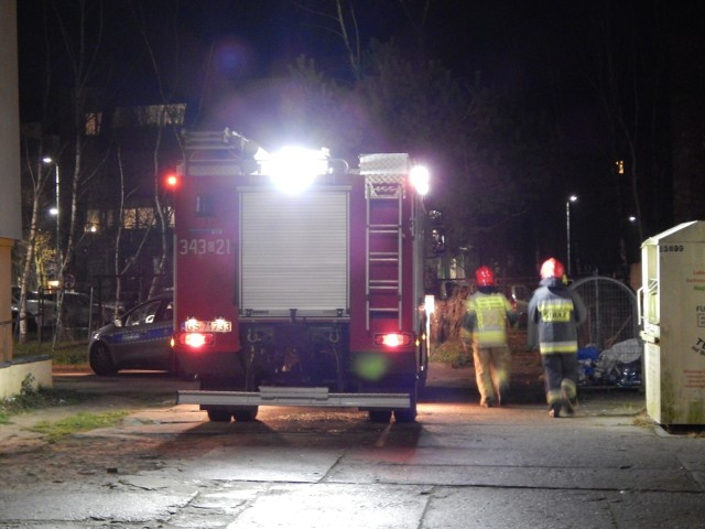 W Ustce strażacy udzielali pomocy medycznej przed przyjazdem karetki pogotowia