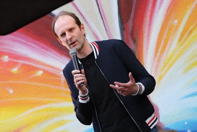 Rafał Rutkowski w Inowrocławiu opowiedział o kryzysie wieku średniego i ojcostwie