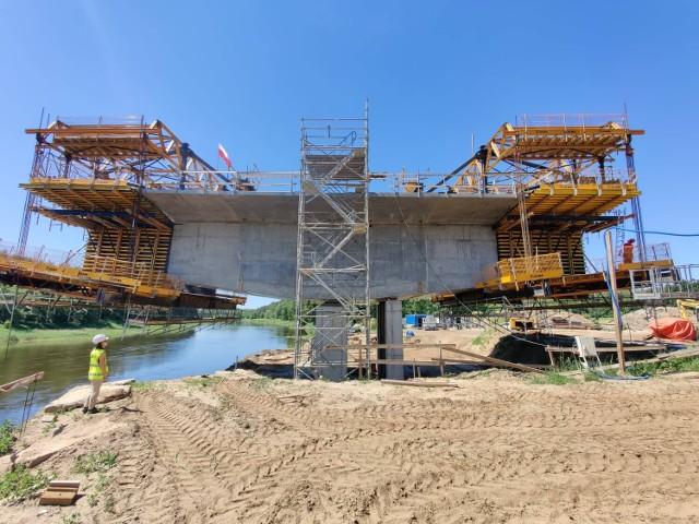 Budowa mostu na Warcie - czerwiec 2021