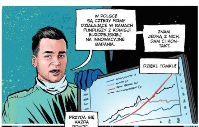 """Łódzki lekarz Tomasz Karauda w dzieciństwie przebierał się za Spidermana. Teraz sam został bohaterem komiksu """"Paneuropa vs. COVID-19"""" o walce z koronawirusem.  CZYTAJ DALEJ >>> ."""