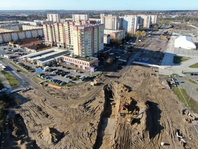 Trwa przebudowa ulicy Szafera w Szczecinie