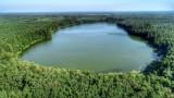 Jezioro Gołębie, nazywane też Grabino, z lotu ptaka wygląda niesamowicie! Zobaczcie i wybierzcie się. To niedaleko Gorzowa