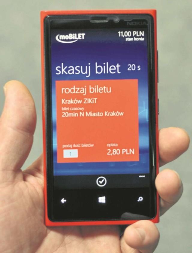 Jedna z aplikacji mobilnych do zakupu e-biletów