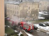 Pożar w Katowicach na ulicy Paderewskiego. Samochód stanął w ogniu