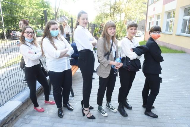 Wspomnienia z egzaminów maturalnych 2020 w I i III LO w Zielonej Górze