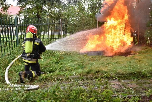 Ćwiczenia bielskich strażaków