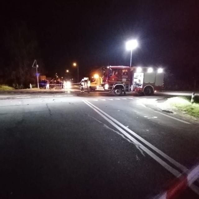 Wypadek na drodze krajowej nr 94 w Zielęcicach