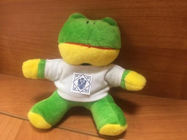 Żaba - maskotka PWSW w Przemyślu.