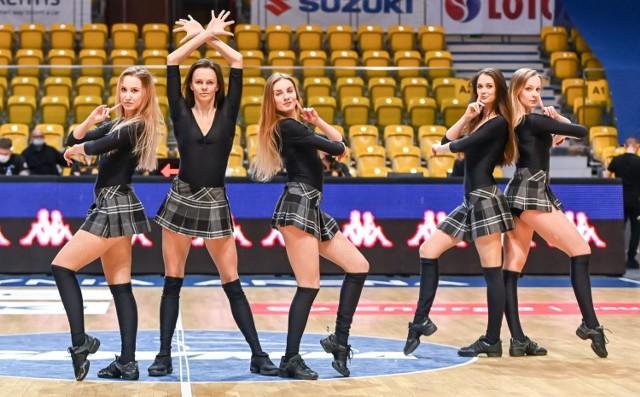 Cheerleaders Gdynia podczas meczu Energa Basket Ligi Asseco Arka Gdynia - Enea Zastal BC Zielona Góra