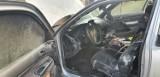 Pożar samochodu w Rywałdzie w powiecie grudziądzkim [zdjęcia]