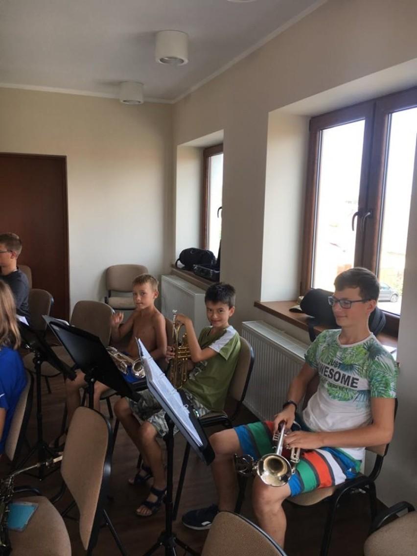 Zbąszyńska Orkiestra Dęta, na trzydniowych warsztatach w Pszczewie