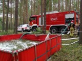 Akcja strażaków w lasach pod Mokrzcem: Udział wzięło niespełna 60 strażaków z powiatu [ZDJĘCIA]