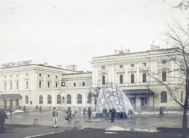 Tak według krakowskiego architekta Przemysława Tabora mogłoby wyglądać wyjście z przystanku na placu Nowaka-Jeziorańskiego. Ta wizja powstała pięć lat temu.