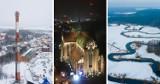 Takich zdjęć z Pelplina i okolic jeszcze nie widzieliście! Miasto nocą i w zimowej szacie widziane z lotu ptaka