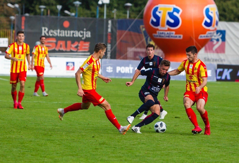 7dbcc4e28fe02 Radosław Majewski strzelił gola Koronie w jesiennym spotkaniu w Szczecinie.