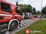 Kraków. Rowerzystka potrącona przez samochód w Nowej Hucie [ZDJĘCIA]
