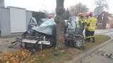 Wypadek na ulicy Złotej w Zduńskiej Woli ZDJĘCIA
