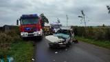 Wypadek w Połchowie: poważne zderzenie dostawczaka z osobówką. Lądował LPR | ZDJĘCIA, NADMORSKA KRONIKA POLICYJNA