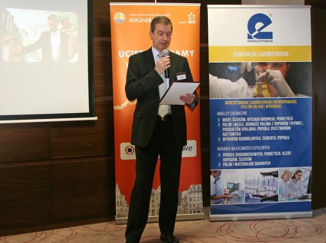 Prezes Zarzadu Philippe Gagneux otwierajacy konferencje