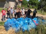 Międzychód. Członkowie Stowarzyszeń Zielony Międzychód i Aktywny Międzychód posprzątali dziś kolejny fragment miasta
