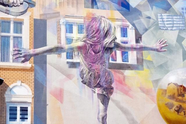 Nowosolskie murale. Piękne obrazy na ścianach budynków w centrum miasta. Warto się im przyjrzeć i dostrzec szczegóły.