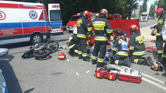 Motocyklista ciężko ranny w wypadku pod Krapkowicami.