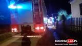 Chwile grozy pod Bochnią. Nocny pożar domu w Łapczycy, na szczęście nikt nie ucierpiał  [ZDJĘCIA]