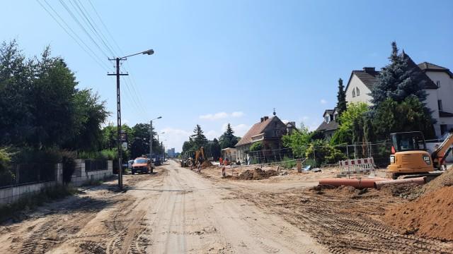 Remont ulicy Częstochowskiej w Kaliszu. Do końca roku droga ma być przejezdna...