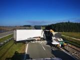 Wypadek na S8 między węzłami w Zduńskiej Woli ZDJĘCIA
