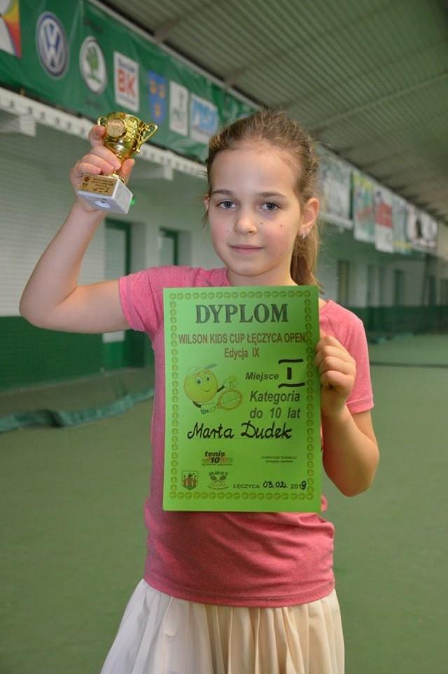 Utalentowana tenisistka potwierdza swoją dobrą dyspozycję wygraną w Pabianicach