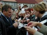 Wizyta prezydenta Aleksandra Kwaśniewskiego w Sieradzu 20 lat temu (zdjęcia)