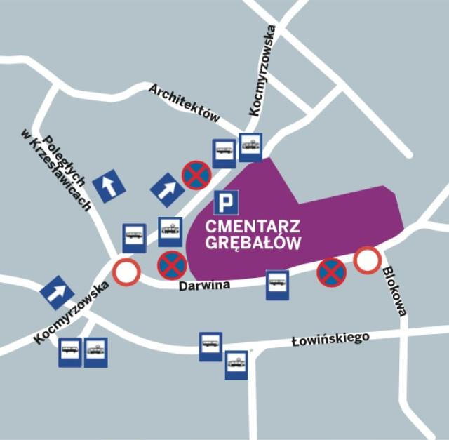 Krakow Organizacja Ruchu 1 I 2 Listopada Komunikacja Trasy