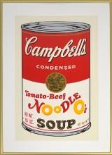 Puszka Campbell Andy'ego Warhola w Warszawie. Wydruk z autografem mistrza z lat 60.