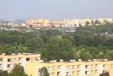 Widok z wieży wyciągowej Szybu Prezydent w Chorzowie. Zobaczcie panoramę Chorzowa z kompleksu Sztygarka