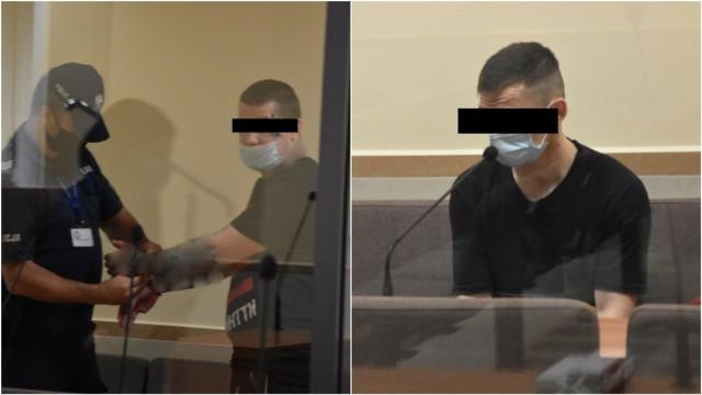 Mateusz B. (z lewej) i Łukasz J. mają postawione zarzuty rozboju i zabójstwa