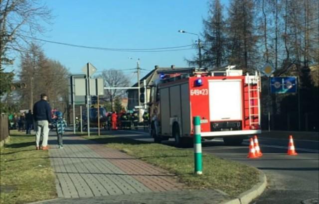 wypadek na DW 931 w Bojszowach
