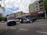 Opole. Wypadek na ul. Spychalskiego. Kierowca wymusił pierwszeństwo, jedna osoba jest ranna