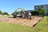 W Sławnie rozpoczęto budowę boiska plażowego [zdjęcia]