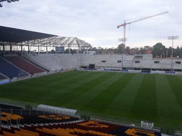 Stadion Pogoni Szczecin - stan prac na 26 czerwca 2021.