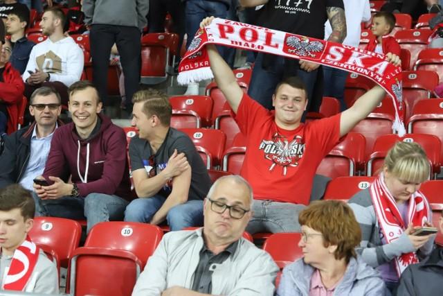 Kibice na meczu Polska - Tahiti