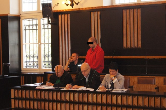 Piotr S. podczas procesu