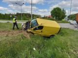 Wypadek w Skępem. Zderzyły się trzy pojazdy, jedna osoba trafiła do szpitala [zdjęcia]