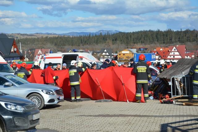 Miejsce tragicznego wypadku w Białce Tatrzańskiej