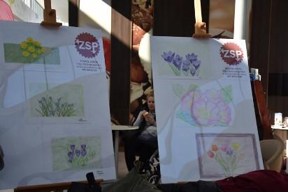 Dzięki uczniom ZSP w Karuzeli zrobiło się wiosennie