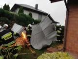 Uwaga na silny wiatr. Strażacy interweniują w powiatach wieluńskim i wieruszowskim[FOTO]