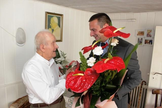 Od lewej: Józef Caban i wójt Janusz Bojkowski