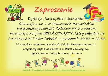 Dni Otwarte Szkół W Tomaszowie Maz Zapraszają 6 7 Latków A Także
