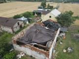 Nawałnica zniszczyła dom samotnej matce. Mieszkanka Skrzypkowa w gminie Obrowo prosi o pomoc [Zdjęcia]