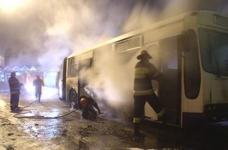 Strażacy szybko poradzili sobie z pożarem.Fot. WOJCIECH TRZCIONKA