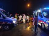Kraków. Stłuczka na skrzyżowaniu Starowiślnej i Podgórskiej. Pasażerka trafiła do szpitala [ZDJĘCIA]